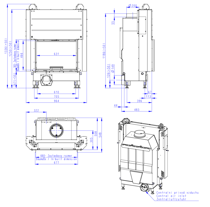 Wkład kominkowy Romotop HEAT  3G L 66.50.01