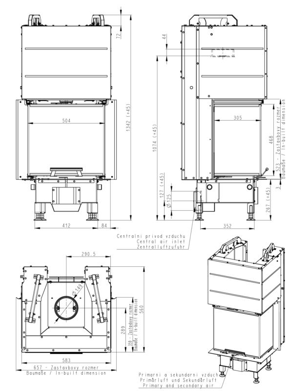 Wkład kominkowy Romotop HEAT C 2G L 50.52.31.01