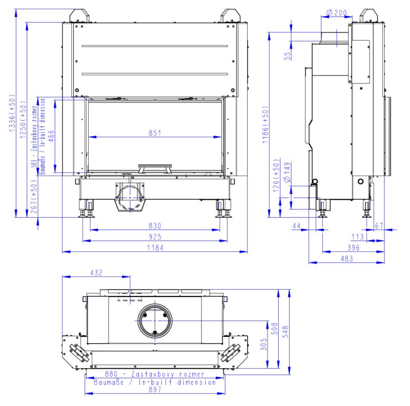 Wkład kominkowy Romotop HEAT 3G L 88.50.01